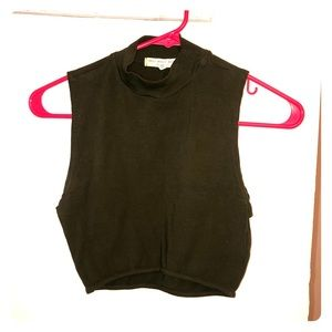 olive green crop tank